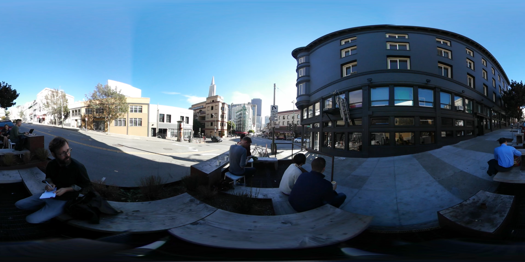Réveille Coffee Parklet - 360° video still frame